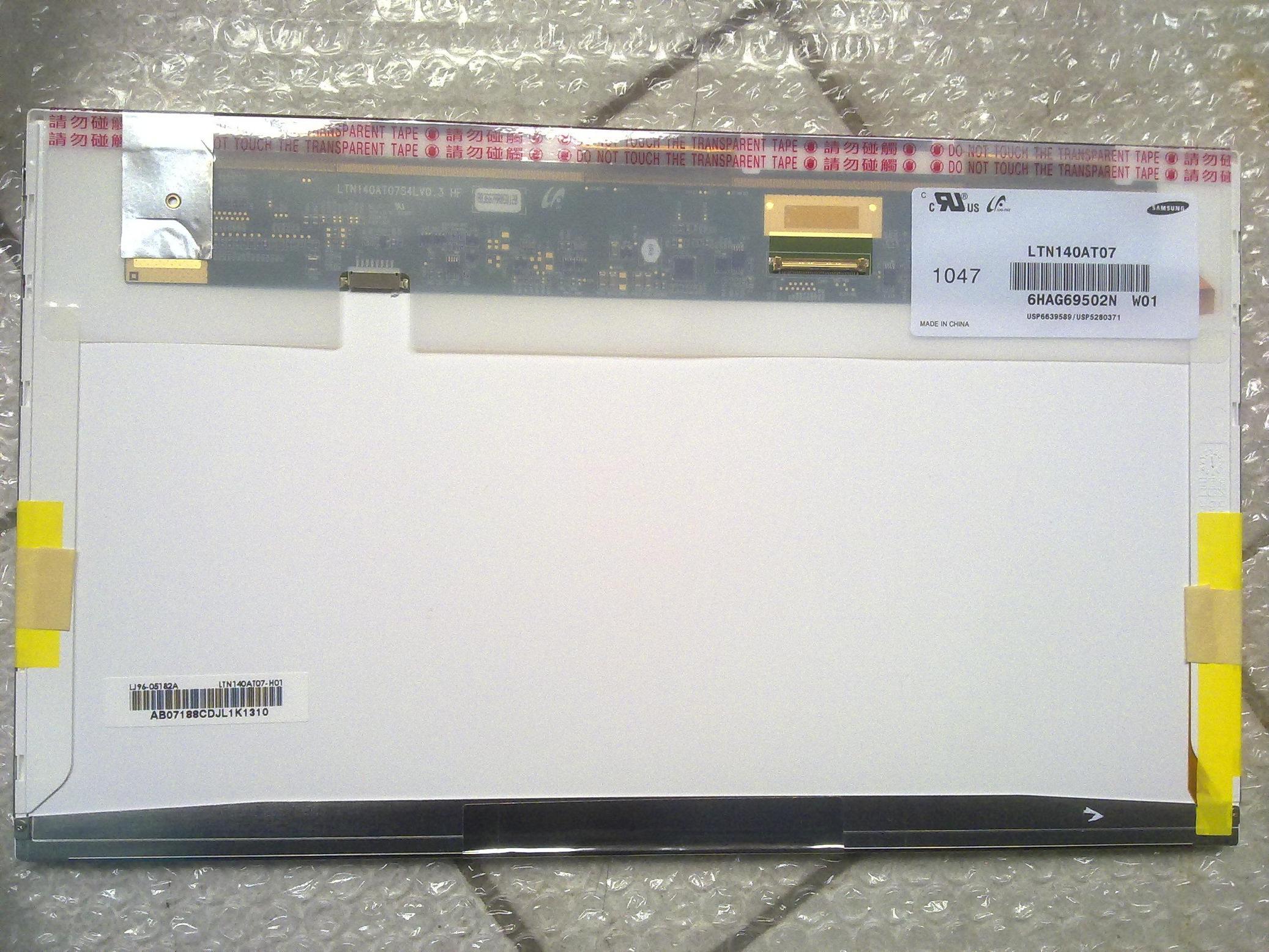 三星14.0寸TFT-LED LTN140AT07液晶屏