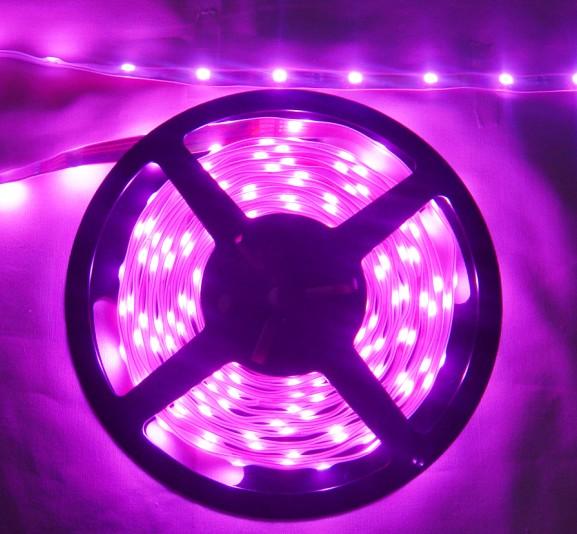 粉紫LED灯条 粉紫软灯条 装饰用粉紫LED软条灯