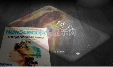 超薄iPad概念设计:未来透明全屏幕