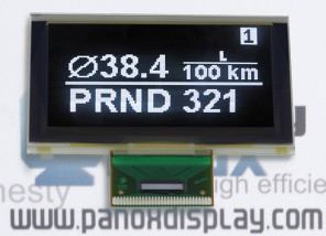 供应2.7寸白色OLED显示屏